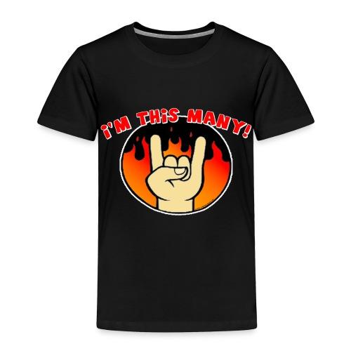 I'm This Many Toddler shirt - Toddler Premium T-Shirt