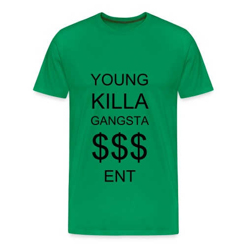 Youngkillagangsta Green Tee - Men's Premium T-Shirt