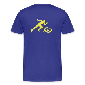 The Original Blue Uncle Rick Running T-Shirt - Men's Premium T-Shirt