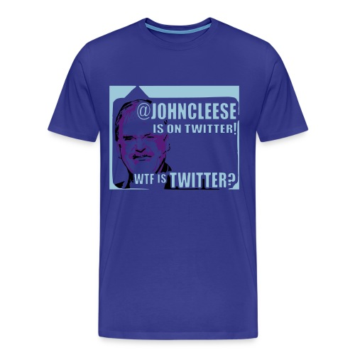 WTF is Twitter? Men's Blue Shirt - Men's Premium T-Shirt