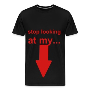 looking at shoes shirt - Men's Premium T-Shirt