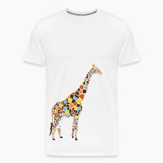 Natural Colorful Giraffe T-Shirts
