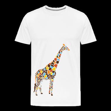 Natural Colorful Giraffe T-Shirts