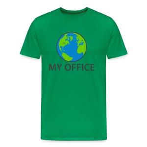 The World Is My Office - Men's Premium T-Shirt