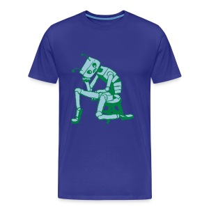 Depressed Robot - Men's Premium T-Shirt