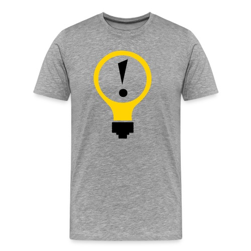 Bright Idea Tee (no URL)-Ash - Men's Premium T-Shirt