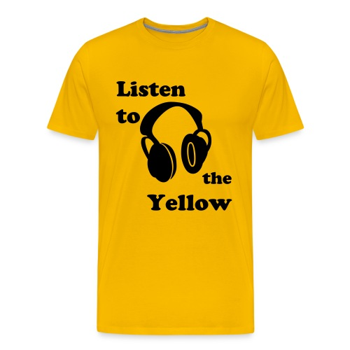 The Yellow Listen - Men's Premium T-Shirt