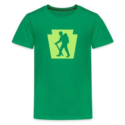 PA Keystone w/Male Hiker - Kids' Premium T-Shirt