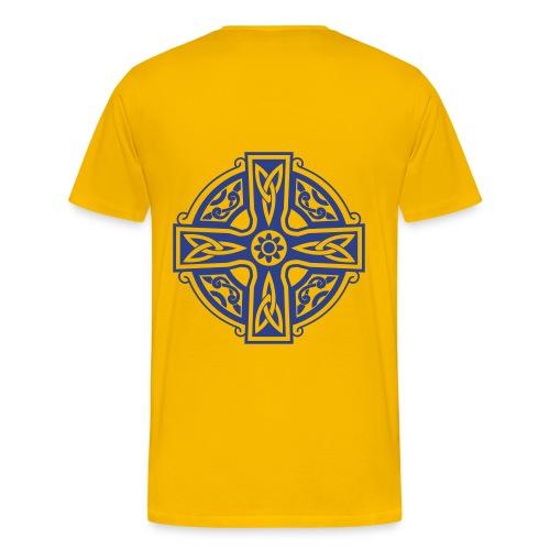 Blue Celtic Cross - Men's Premium T-Shirt