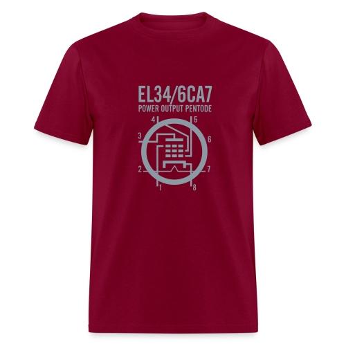 EL34 Red+Silver T-Shirt - Men's T-Shirt