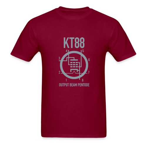 KT88 Red+Metallic Silver T-shirt - Men's T-Shirt