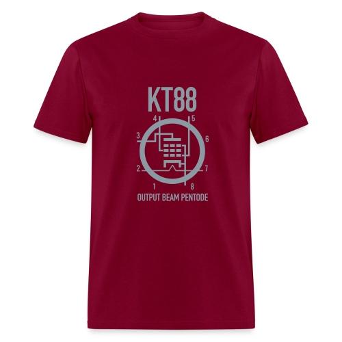 KT88 Red+Metallic Silver T-shirt - Men's T-Shirt