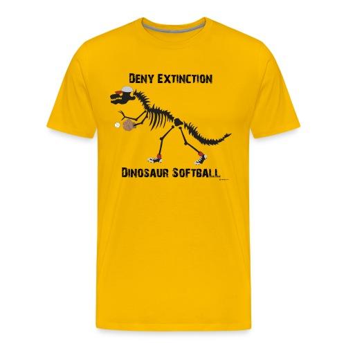 Dino Softball Deny Black-print Tee - Men's Premium T-Shirt