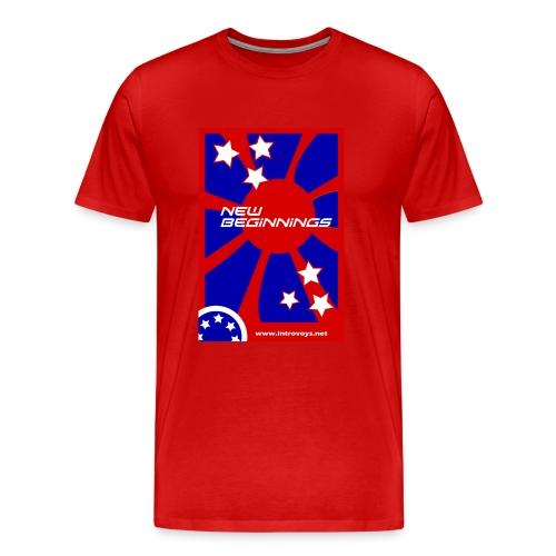 new beginnings stars (men's) - Men's Premium T-Shirt