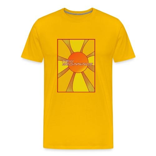 new beginnings rays (men's) - Men's Premium T-Shirt