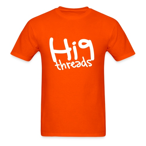 Hi9 - Scribble - Orange/White - Men's T-Shirt