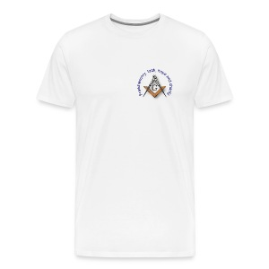 Masonic Emblem - Square and Compass - Men's Premium T-Shirt