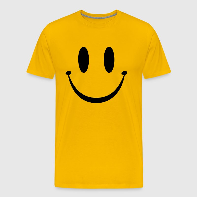 yellow smiley face t shirts men 39 s premium t shirt. Black Bedroom Furniture Sets. Home Design Ideas