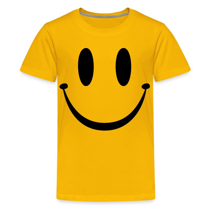 Smiley face t shirt spreadshirt for Yellow t shirt for kids