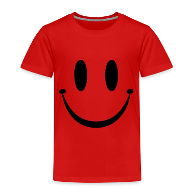 Red Smiley Face Toddler Shirts