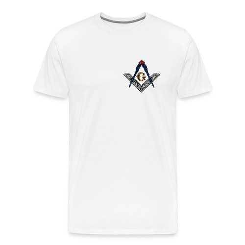 Masonic Emblem - Square and Compass - Men's Premium T-Shirt