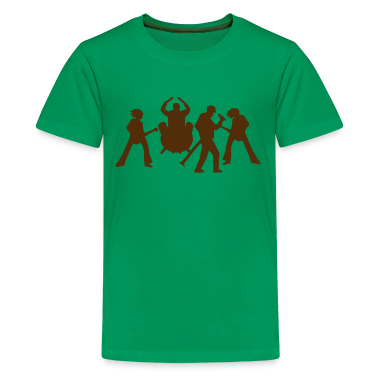 Kelly green Rock Band Music Concert Tour Kids' Shirts
