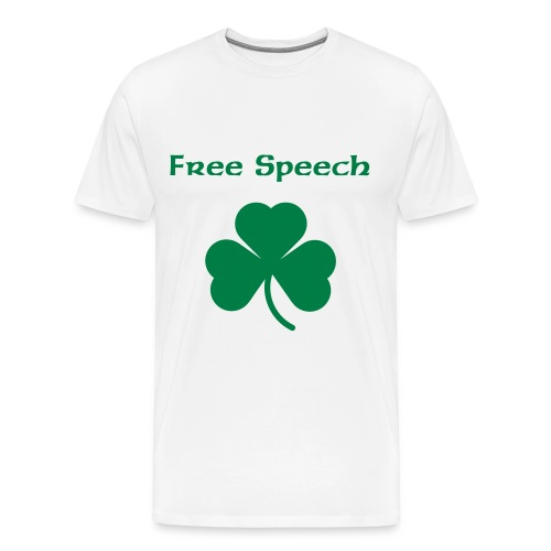 Free Speech (Men's T-Shirt) - Men's Premium T-Shirt