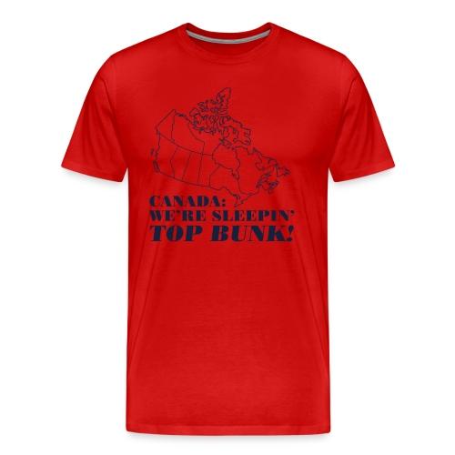 Canada: We're Sleeping Top Bunk! - Men's Premium T-Shirt