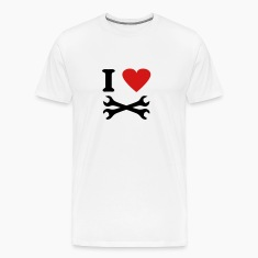 White i love tools T-Shirts