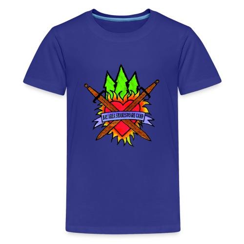 Kids' Bay Area Shakespeare Camp Color Logo Color Tee - Kids' Premium T-Shirt