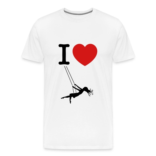 I love swinging - Men's Premium T-Shirt