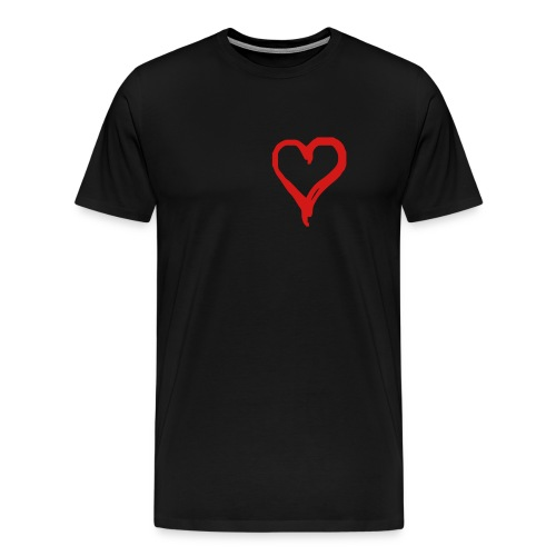 emo heart - Men's Premium T-Shirt