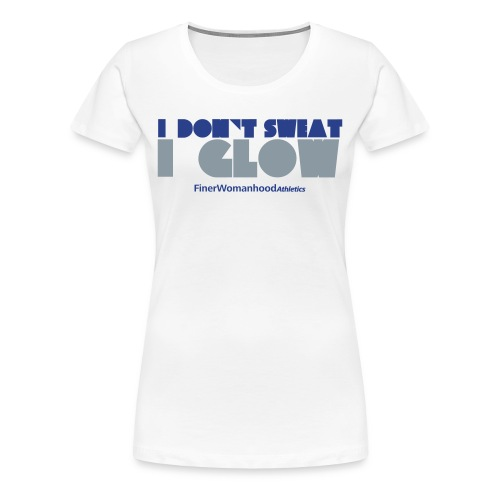 Don't Sweat, Glow Retro - Plus Size Tshirt - Women's Premium T-Shirt