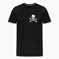 Black Small Skull & Crossbones T-Shirts