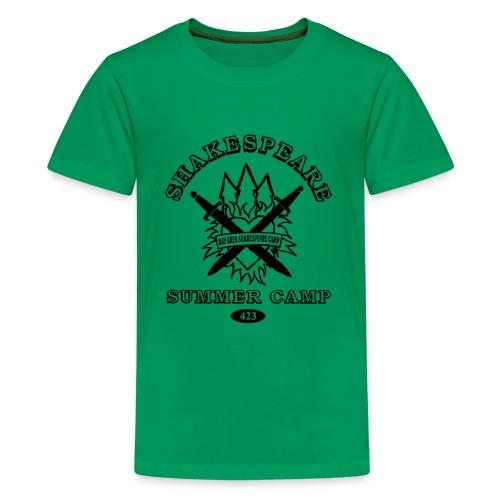 Kids' Bay Area Shakespeare Camp Black Logo Basic Tee - Kids' Premium T-Shirt