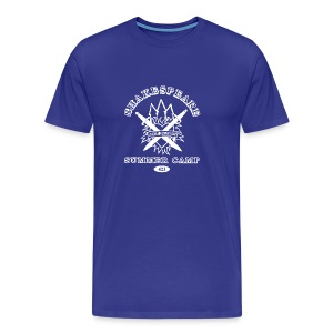 Mens' Bay Area Shakespeare Camp White Logo Basic Tee - Men's Premium T-Shirt