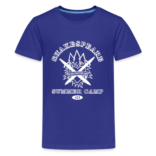 Kids' Bay Area Shakespeare Camp White Logo Basic Tee - Kids' Premium T-Shirt