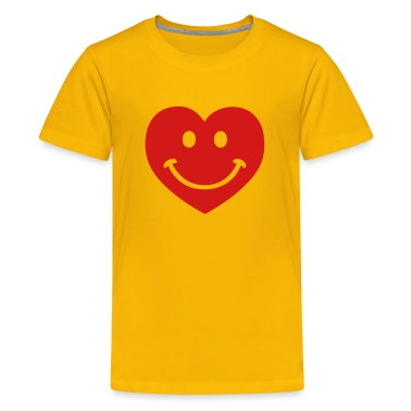 Yellow heart smiley Kids' Shirts