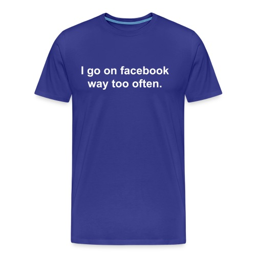 facebok addict3 - Men's Premium T-Shirt