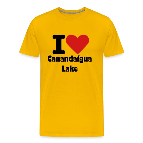 I Heart Canandaigua lake - Men's Premium T-Shirt