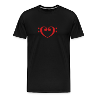 T-Shirts ~ Men's Premium T-Shirt ~ Bass Clef Heart