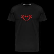 T-Shirts ~ Men's Premium T-Shirt ~ Bass Clef Heart
