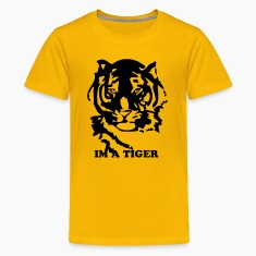 Yellow tiger custom Kids' Shirts