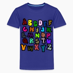 Royal blue Graffiti Alphabet Multi-Color--DIGITAL DIRECT ONLY Kids' Shirts