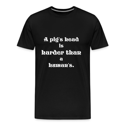 Pig Head blue - Men's Premium T-Shirt