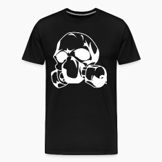 Black Skull with gas mask T-Shirts