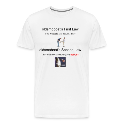 Oldsmoboat's Laws - Men's Premium T-Shirt