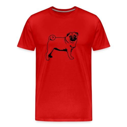 Pug Sillouette - Men's Premium T-Shirt