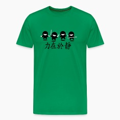 Bright green Ninja Army T-Shirts