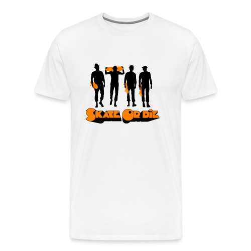 clockwork orange skateboard design - Men's Premium T-Shirt